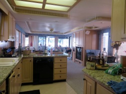 The living/kitchen areas
