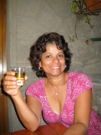 Enjoying my first taste of limoncello in Cinque Terre, Italy.