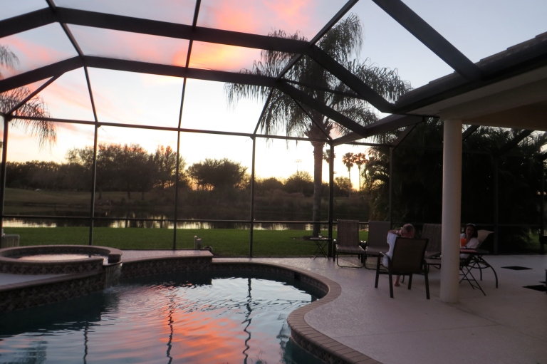 Sundowners by the pool