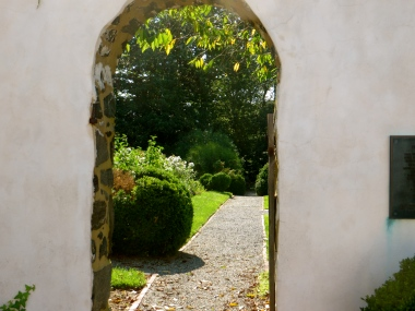 The entrance to the gardens