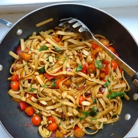 Veggie Pasta Stir-fry - Fiesta Friday # 120