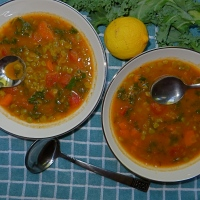 Vegan Green Lentil Spicy Soup