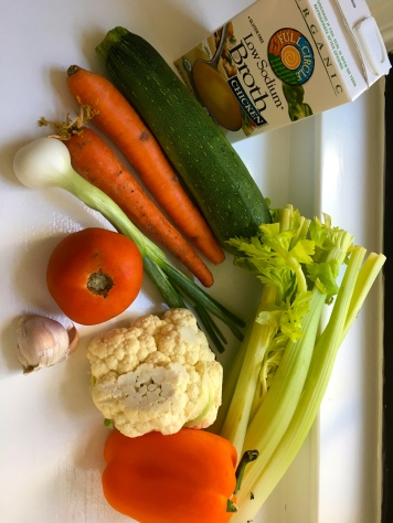 Just some of the veggies that went into the minestrone soup